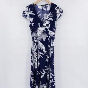 Staccato Hawaiian Navy Blue Floral Maxi Dress